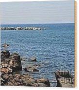 Mandraki Coastline Nisyros Wood Print