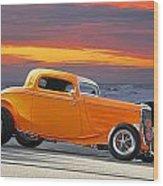 Mango Madness 1933 Ford Hiboy Coupe Wood Print