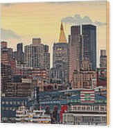 Manhatan Ny  Wood Print by Emmanuel Panagiotakis