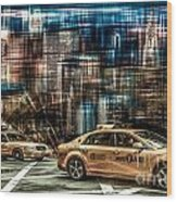 Manhattan - Yellow Cabs - Future Wood Print
