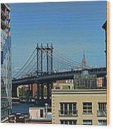 Manhattan Bridge From Brooklyn Wood Print
