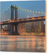 Manhattan Bridge I Wood Print