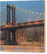 Manhattan Bridge Panoramic Wood Print