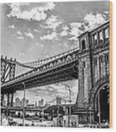 Manhattan Bridge - Pike And Cherry Streets Wood Print