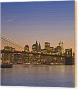 Manhattan Brooklyn Bridge Wood Print