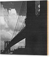 Manhattan Brooklyn Bridge View Wood Print