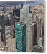 Manhattan Bryant Park Aerial Wood Print by Jannis Werner