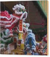 Manhattan Chinatown Decorations Wood Print
