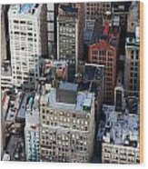 Manhattan From Above Wood Print