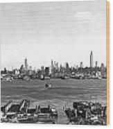 Manhattan From New Jersey Wood Print