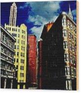 Manhattan Highlights Wood Print