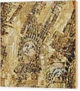 Manhattan Map Antique Wood Print