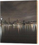 Manhattan Night View 2 Wood Print