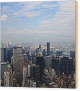 Manhattan Overview Wood Print