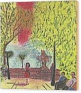 Manhattan Park 1 Wood Print