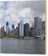 Manhattan Skyline From The Hudson River Wood Print