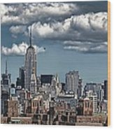 Manhattan-skyline Wood Print