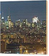 Manhattan Skyline, New York City, New Wood Print