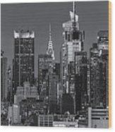 Manhattan Twilight Ix Wood Print by Clarence Holmes
