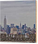Manhattan View Wood Print
