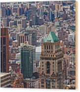 Manhattan View From The Roof Wood Print
