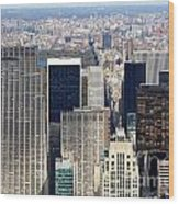 Manhattan View Uptown Wood Print