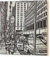 Manhattan Wood Print by William Cauthern