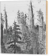 Manhattan Woods Wood Print