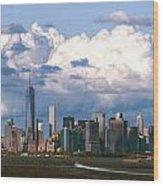 Manhattanincloudbank Wood Print