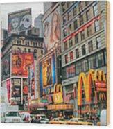 Manhattan's Theater District Wood Print