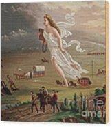 Manifest Destiny 1873 Wood Print by Photo Researchers