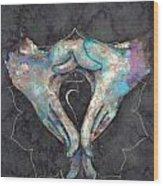 Manipura - Solar Plexus 'blue Hand' Chakra Mudra Wood Print