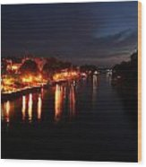 Manistee River Channel Wood Print