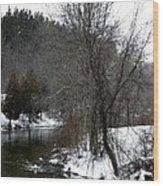 Manistee River Wood Print