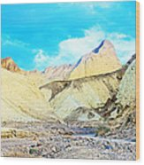 Manly Beacon From Golden Canyon In Death Valley National Park-california Wood Print