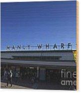 Manly Wharf Wood Print