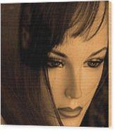 Mannequin Face Wood Print