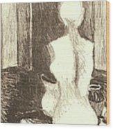 Mannequin Life Wood Print