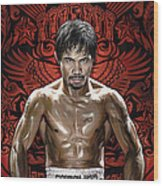 Manny Pacquiao Artwork 1 Wood Print