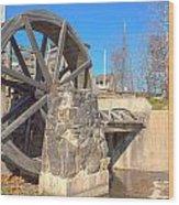 Mansfield Mill Water Wheel Wood Print