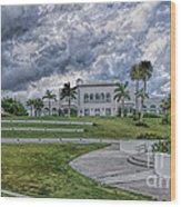 Mansion At Tuckahoe In Jensen Beach Florida Wood Print