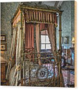 Mansion Bedroom Wood Print