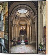 Mansion Hallway Triptych Wood Print by Adrian Evans