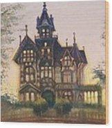 Mansion In Eureka Wood Print