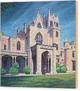 Mansion In Tarrytown Wood Print
