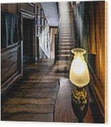 Mansion Lamp Wood Print