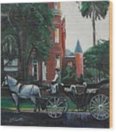 Mansion On Forsythe Savannah Georgia Wood Print