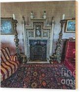Mansion Sitting Room Wood Print by Adrian Evans