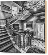 Mansion Stairway V2 Wood Print