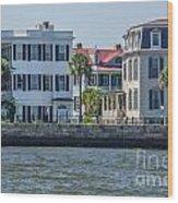 Mansions By The Water Wood Print
